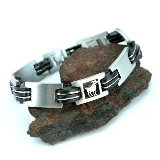 Bracelet acier homme signe du zodiaque