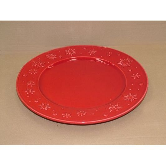 assiette plate 28 cm 39 flocon rouge 39 x4 achat vente assiette service cdiscount. Black Bedroom Furniture Sets. Home Design Ideas
