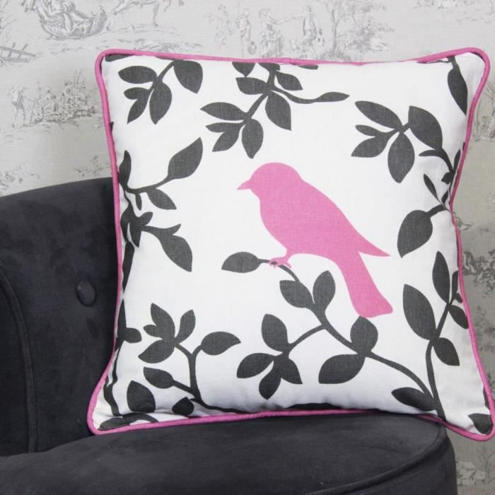 housse de coussin bird shadow rose 40x40cm achat vente housse de canape soldes d s le. Black Bedroom Furniture Sets. Home Design Ideas