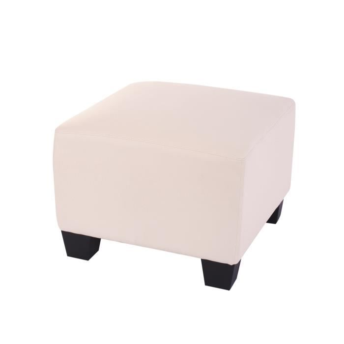 canap l ment pouf repose pied lyon modulaire pu cr me. Black Bedroom Furniture Sets. Home Design Ideas