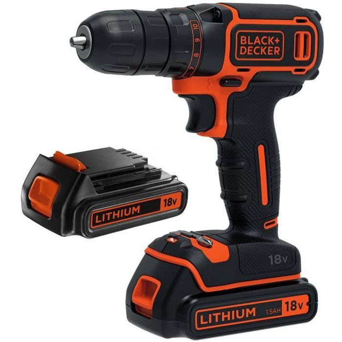 PERCEUSE BLACK & DECKER Perceuse-visseuse sans fil BDCD18B