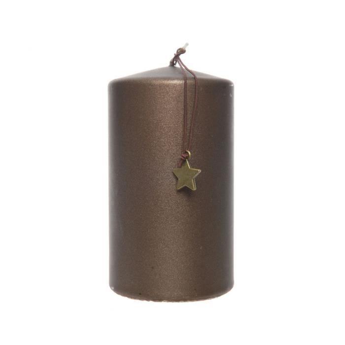 BOUGIE DÉCORATIVE Bougie Pilier Mat Chocolat Noir 7cm