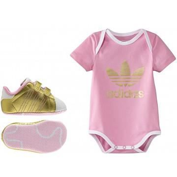 welcome bebe coffret b b fille adidas rose achat. Black Bedroom Furniture Sets. Home Design Ideas