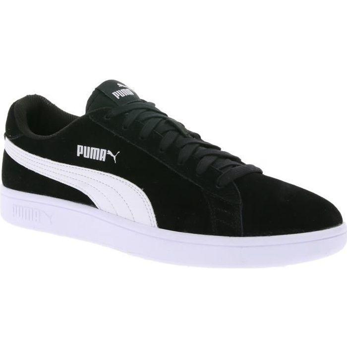 Puma Chaussures de sport en cuir pour hommes Smash