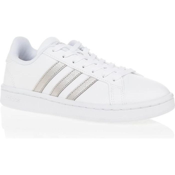 ADIDAS Baskets Grand Court - Femme - Blanc et or Blanc ...