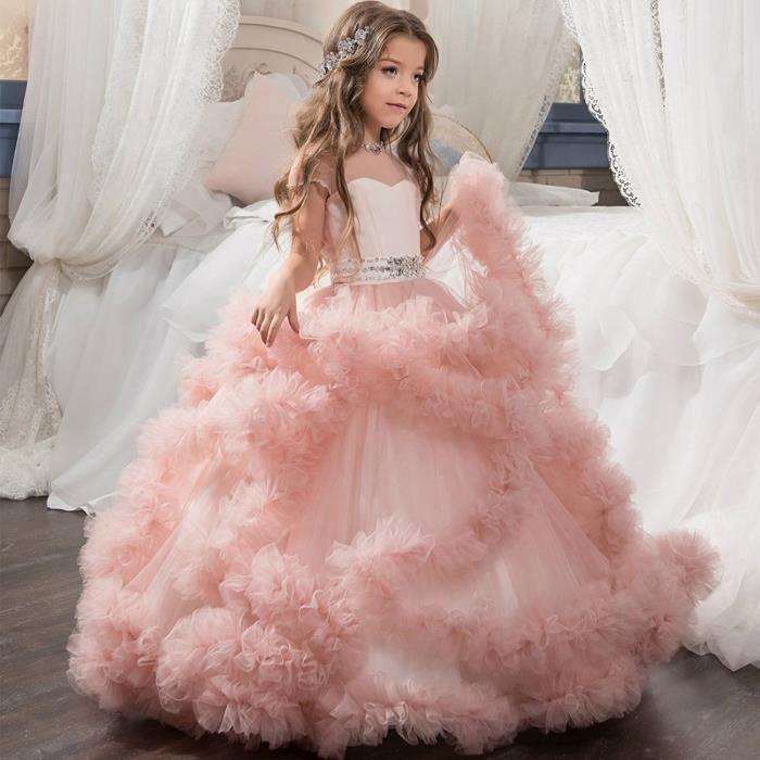 Robe De Princesse Pour Enfants Fleur Robe