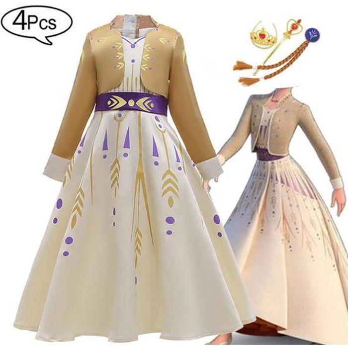 Filles enfants princesse robe Déguisement Cosplay Costume Fête à Capuche Cape Robe