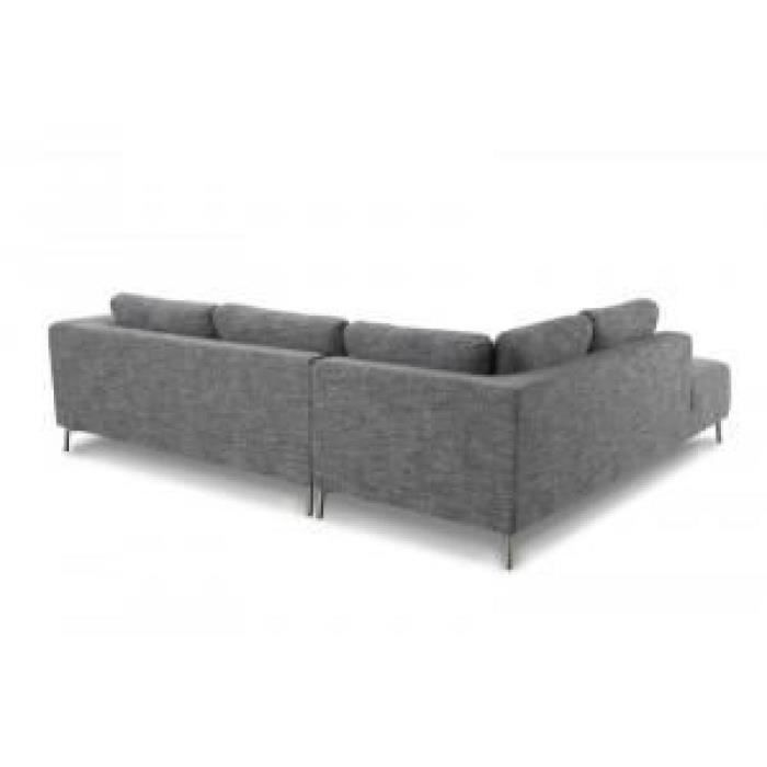canap narbonne gris angle droit paris prix achat vente canap sofa divan tissu 100. Black Bedroom Furniture Sets. Home Design Ideas