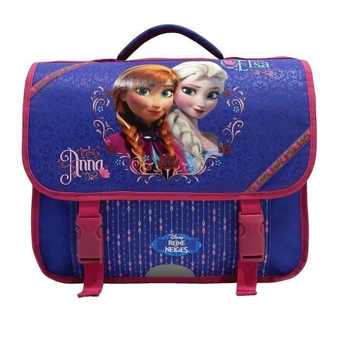 Cartable Frozen Reine des neiges fille - Violet 38 cm - 6/12ans