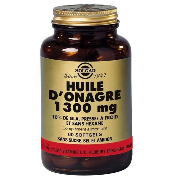 MÉNOPAUSE - ANDROPAUSE Huile d'onagre 1300 mg  - 60 gélules