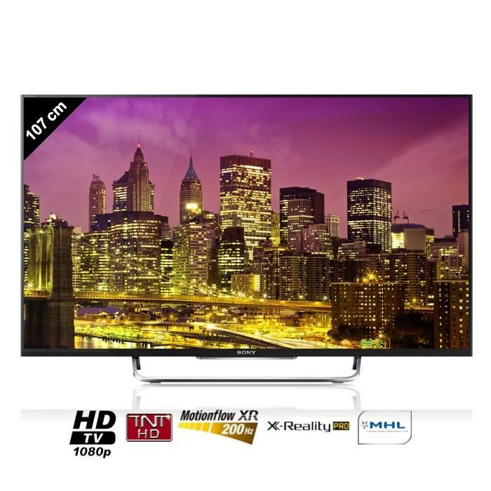 sony bravia kdl42w705 tv led connect 107 cm t l viseur led avis et prix pas cher cdiscount. Black Bedroom Furniture Sets. Home Design Ideas