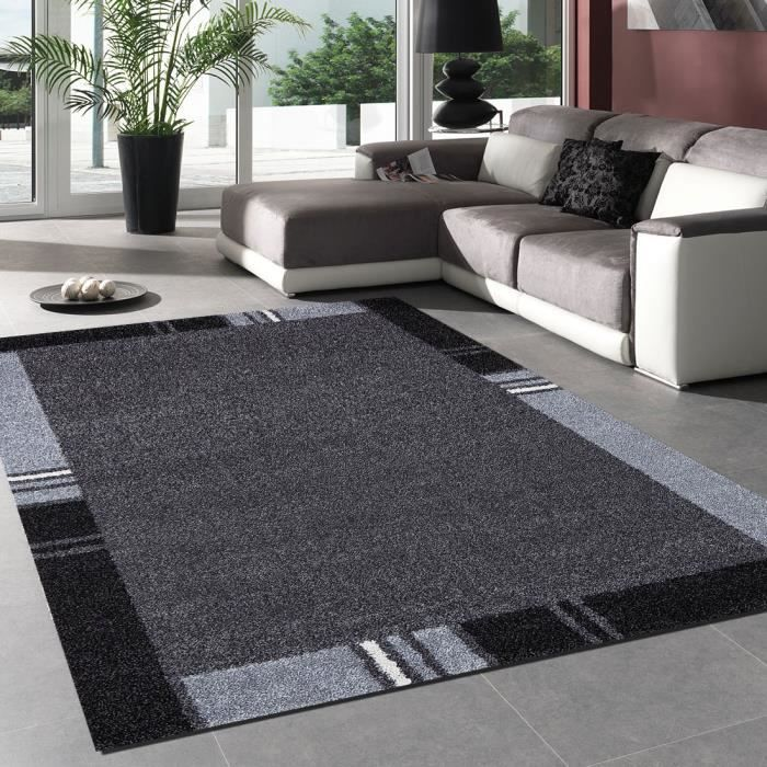 tapis salon zaquo gris 160x230 par unamourdetapis tapis moderne achat vente tapis les. Black Bedroom Furniture Sets. Home Design Ideas