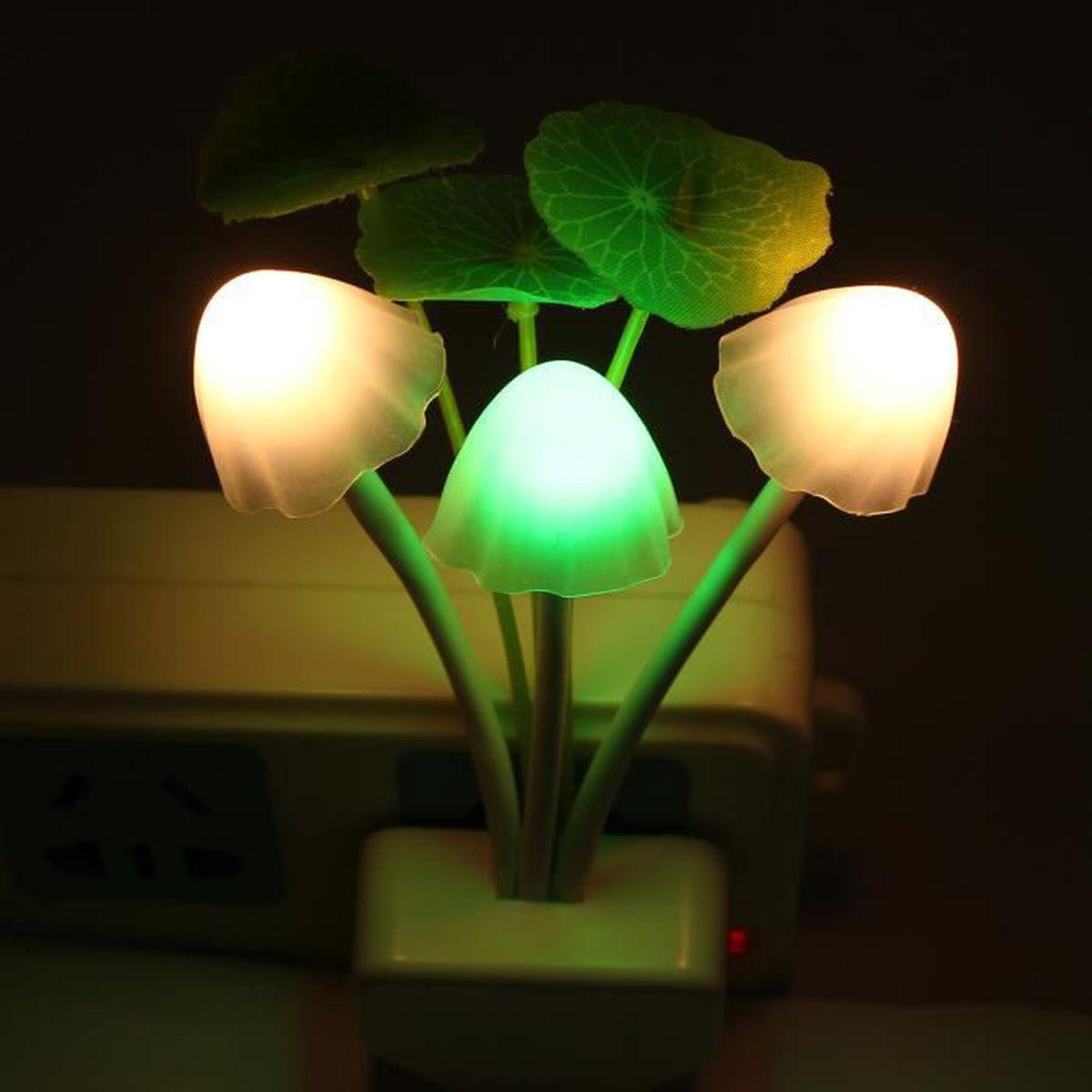 Lampe Veilleuse Lapin Miffy led lampe changement veilleuse mushroom rose lapin auto sensor couleur  chambre type a tu