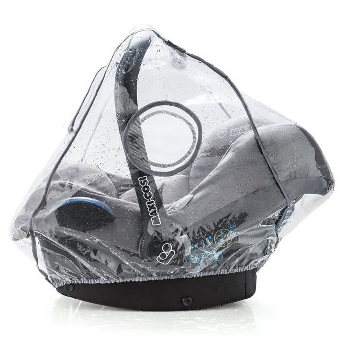 Habillage Pluie Imperm/éable Universel Poussette Confortable Bonne Circulation de l/'Air Montage Facile Sans PVC pour Tous Types de Poussettes