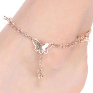 CHAINE DE CHEVILLE Bracelet de cheville femme Acevivi mode nu-pieds s