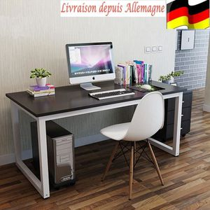 MEUBLE INFORMATIQUE table pour ordinateur Bureau meuble PC Table de tr