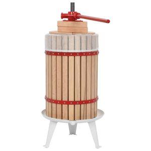 PRESSE-FRUIT - LEGUME MANUEL Presse-fruits et à vin avec sac en tissu 24 L Bois