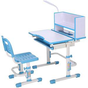 GOTOTOP Chlildrens Ensemble de chaises de Bureau pour Enfants avec Lampe LED et Support pour Livres pour Filles et gar/çons