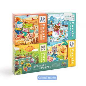 PUZZLE MiDeer puzzles enfants avancé puzzle 4-en-1, jouet