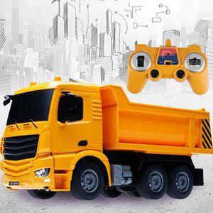JOUET DE PLAGE RC jouet 4CH Télécommande Gros camion benne chargé