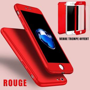 coque iphone xr avant arriere rouge