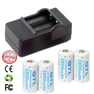 PILES 8 Piles Rechargeables CR123A 3.7V 123A CR123 16340