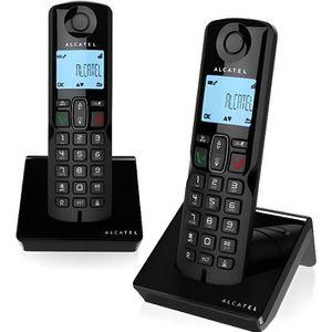 Téléphone fixe Alcatel S250 Duo Téléphone sans fil avec ID d'appe