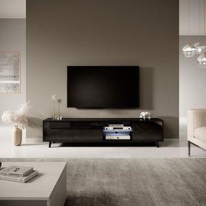 MEUBLE TV Meuble tv / Meuble de salon - GLAM - 175 cm - noir