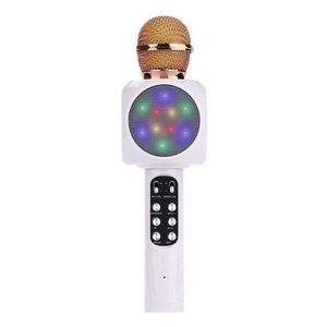 MICROPHONE - ACCESSOIRE Microphone Sans Fil Karaoké Portable Bluetooth LED