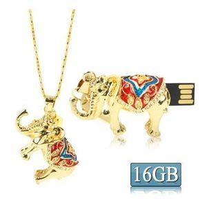 CLÉ USB Clé USB 16GB pendentif forme éléphant (mulicolore)