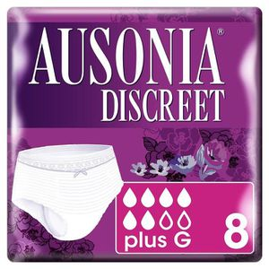 FUITES URINAIRES Ausonia Discreet Pants Plus G Lot de 8 culottes po