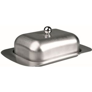 BEURRIER - HUILIER  BEURRIER INOX AVEC COUVERCLE - INOX DE QUALITE SUP