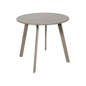 TABLE BASSE Table basse en acier - Utilisation extérieure et i
