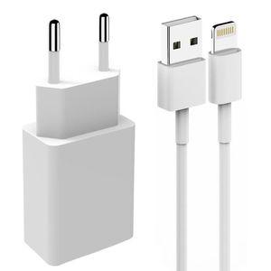 ACCESSOIRES SMARTPHONE Kit Chargeur Secteur Blanc Compatible pour Apple i