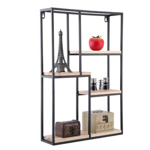 etagere murale moderne achat vente pas cher. Black Bedroom Furniture Sets. Home Design Ideas