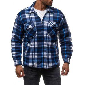 Homme Doublé de Fourrure Matelassé thermique manches longues bûcheron travail chaud manteau veste
