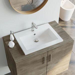 Lavabo En Granit 600 X 450 X 120 Mm Blanc Vasque A Poser Achat