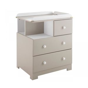 commode a langer taupe achat vente commode a langer taupe pas cher soldes cdiscount. Black Bedroom Furniture Sets. Home Design Ideas