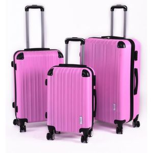 SET DE VALISES Set 3 valises, 8 roues pivotantes ROSE