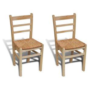 CHAISE 2pcs Chaises ergonomique de salle à manger ou de c