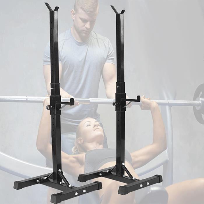 NUO Fitness Support à range-haltères Cage de Squat a Hauteur Réglable 89-143cm