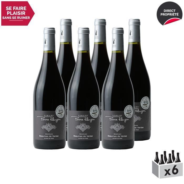 Beaumes de Venise Rouge 2018 - Lot de 6x75cl - Domaine Pierre Rougon - Vin AOC Rouge de la Vallée du Rhône - Cépages Grenache,