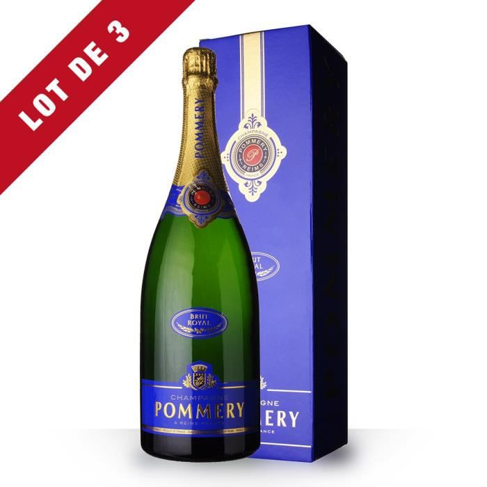 3x Magnum Pommery Brut - Etui - 3x150cl - Champagne