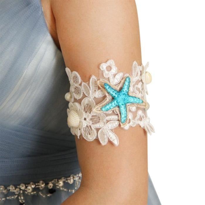 1 PC multi-usages exquis élégant durable fleur dentelle bras Bracelet perle BRACELET - COLLIER A ION NEGATIF - D'EQUILIBRE