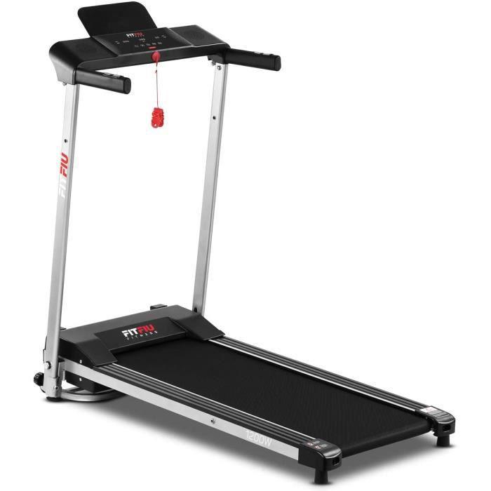 Tapis de course pliable ultra-compact, vitesse jusqu'à 10km-h et surface de course de 36x100cm, machine de fitness de 1200w, 12[5]
