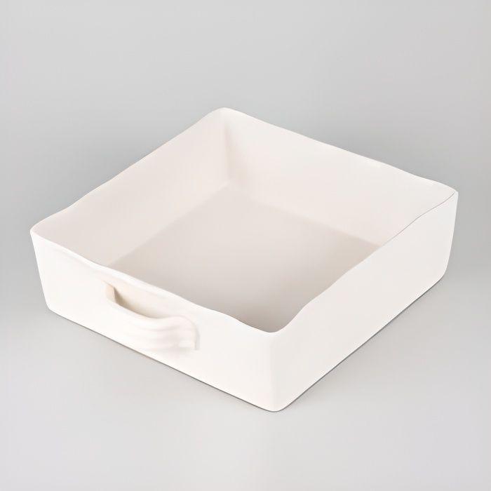 Plat à four carré 23x23 Gusto ivoire