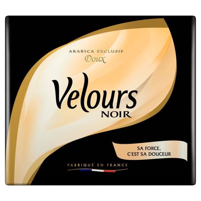 VELOURS NOIR Café Moulu Noir - 2 x 250 g