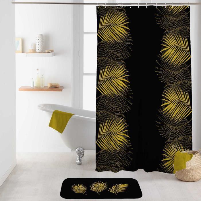 Rideau de douche 180 x 200 cm polyester imprime orbella Noir