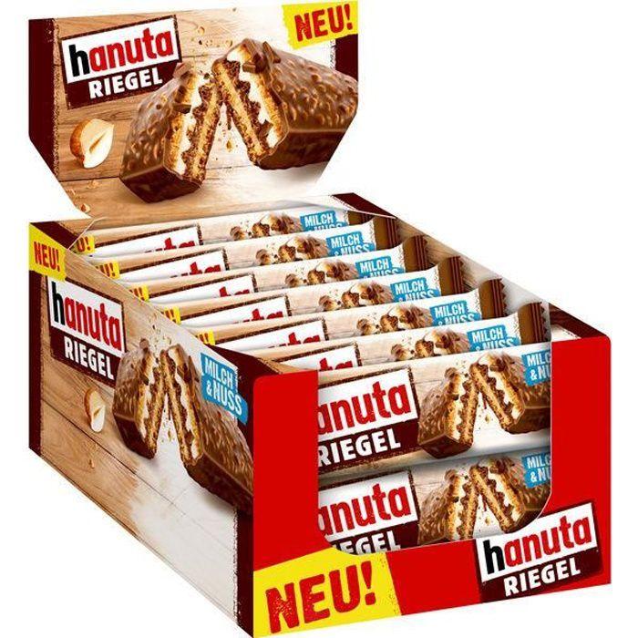 Ferrero Hanuta Barres Lait & Noix 34,5g (Pack de 14)