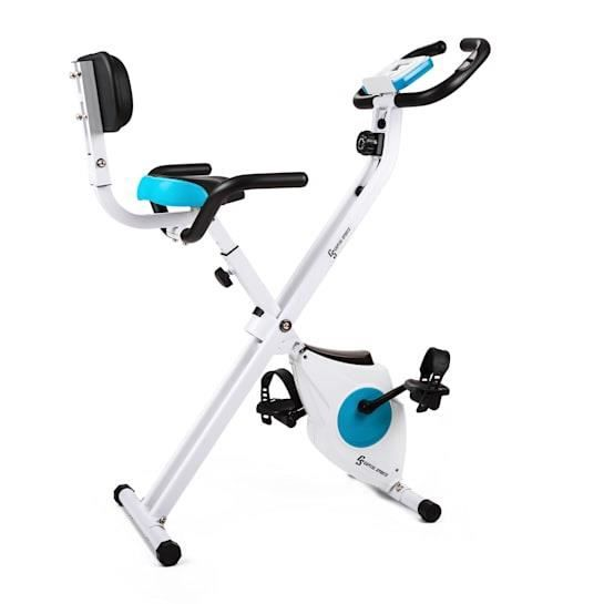 Capital Sports Azura M3 white - Vélo d'appartement pliable - hauteur réglable - charge max : 100kg - pulsomètre